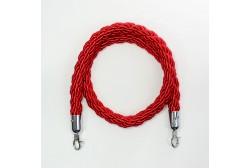 Kaiteen köysi punainen 1,5m, koukku hopea
