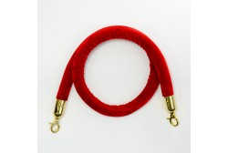 Kaiteen köysi veluuri punainen 1,5m, koukku kultainen