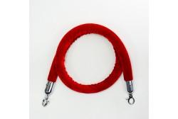 Kaiteen köysi veluuri punainen 1,5m, koukku hopea