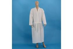 Vohvelikylpytakki XL valkoinen