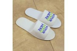 Logolla tohveli, avoin jalkaterä (3 mm pohja)