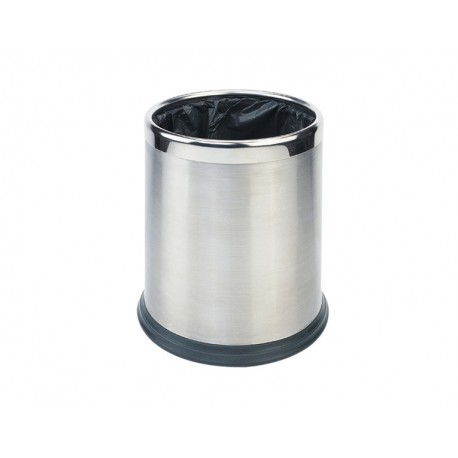 Round waste basket 10L - Stainless steel