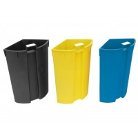 Waste bin 13L Black with 3 removable compartments