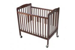 Baby crib (kokoontaitettava), tummanruskea