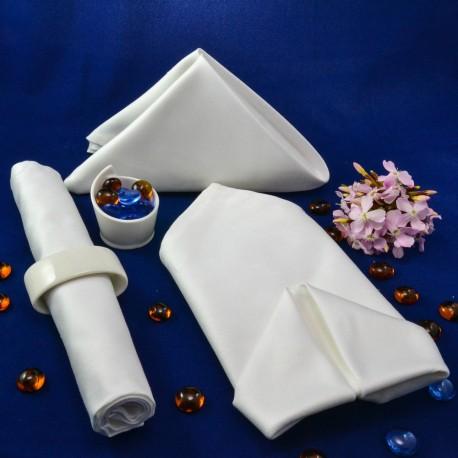 Lautasliina 50*50 cm, valkoinen, 100% puuvilla