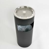 Tuhkakuppi-roskakori pyöreä, 10 L metallinen insertti, musta