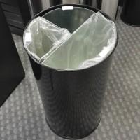 Roskakori metalli musta 60 L, 3 irrotettavalla osalla