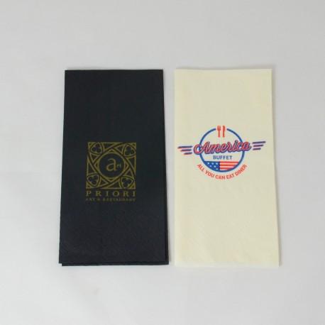 Lautasliina logolla 33*33 cm väripaperi