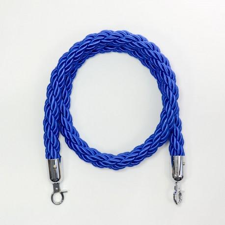 Kaiteen köysi sininen 1,5m, koukku hopea