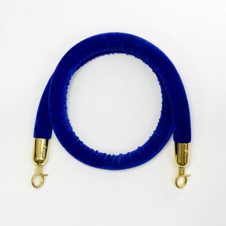 Kaiteen köysi veluuri sininen 1,5m, koukku kultainen