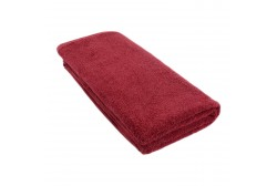 Frotee tummanpunainen peite 100*200 cm