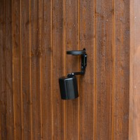 Seinätuhkakuppi ulkokäyttöön 0.5L, musta