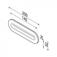 Tissue holder, recessed for vanity basins