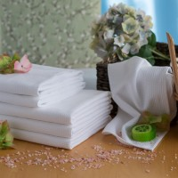Vohveli pyyhe 50*70 cm valkoinen