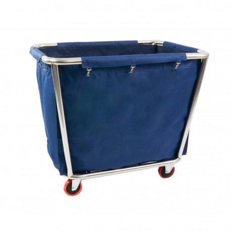 Siivouspalvelun vaunu, sininen pussi