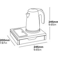 Vedenkeitin tarjottimella 600 ml, musta