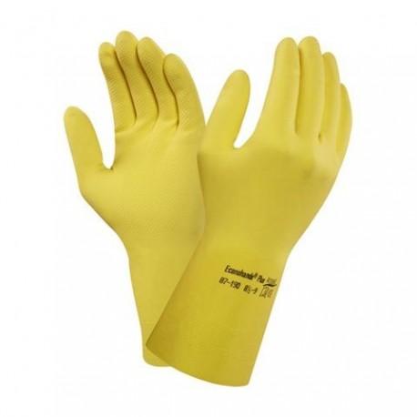 Lateksi käsineet  keltainen M/7.5 Ansell