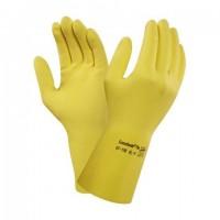 Lateksi käsineet  keltainen S/6.5 Ansell