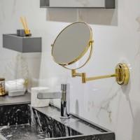 Kaksipuolinen peili, kaksinkertainen varsi kultainen