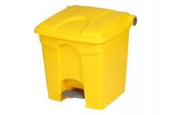 Jäteastia polkimella 30L, keltainen